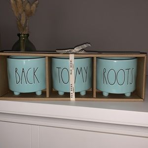 """Rae Dunn """"BACK TO MY ROOTS"""" planters.NWT"""